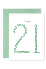 E. Frances Happy 21 Card