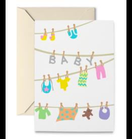 R. Nichols Baby Clothesline Notecard Set