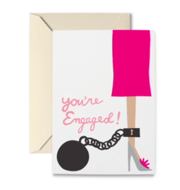R. Nichols Engaged Ball and Chain Card