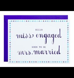 Mr. Boddington's Studio Miss To Mrs Card
