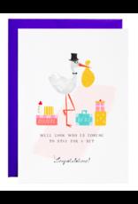 Mr. Boddington's Studio Stork's Suitcase Card