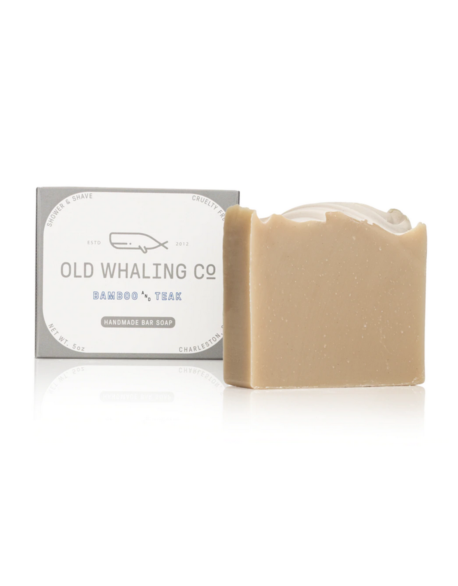 Old Whaling Co. Bamboo & Teak 5.5oz Soap Bar
