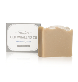 Old Whaling Co. Bamboo & Teak 5.5oz Soap Bar