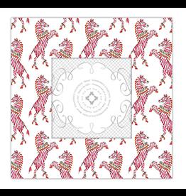 Pink Zebra 3x3 Frame