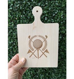 Maple Leaf at Home 9x6 Maple Handled Cutting Board Golf Ball