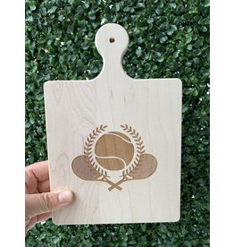Maple Leaf at Home 9x6 Maple Handled Cutting Board Tennis Ball