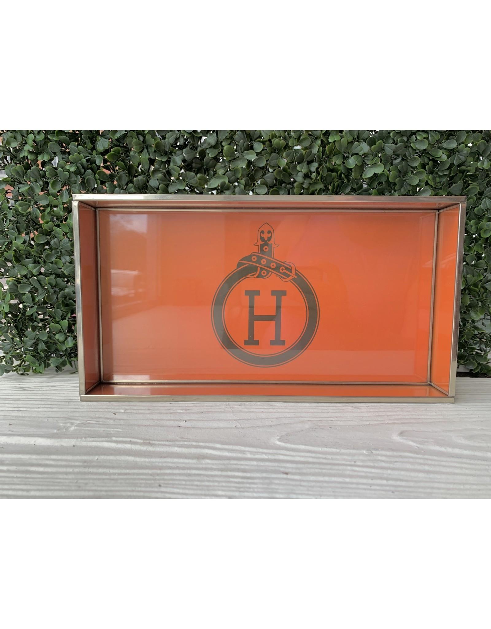 Orange H Tray