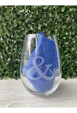 Maple Leaf at Home Mr. & Mrs. Wine Glass