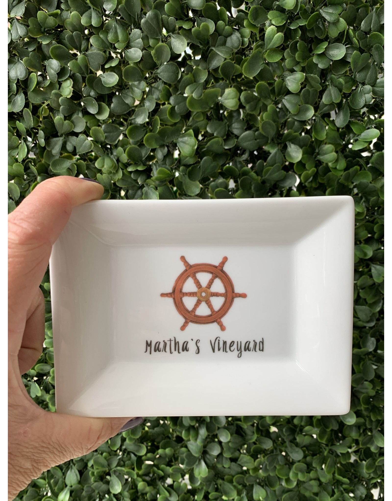 Dishique Martha's Vineyard Sailing Wheel Mini Dish
