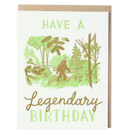 Smudge Ink Legendary Sasquatch Birthday Card