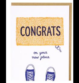 Smudge Ink Doormat New Home Card