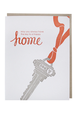 Smudge Ink Key to New Home Card