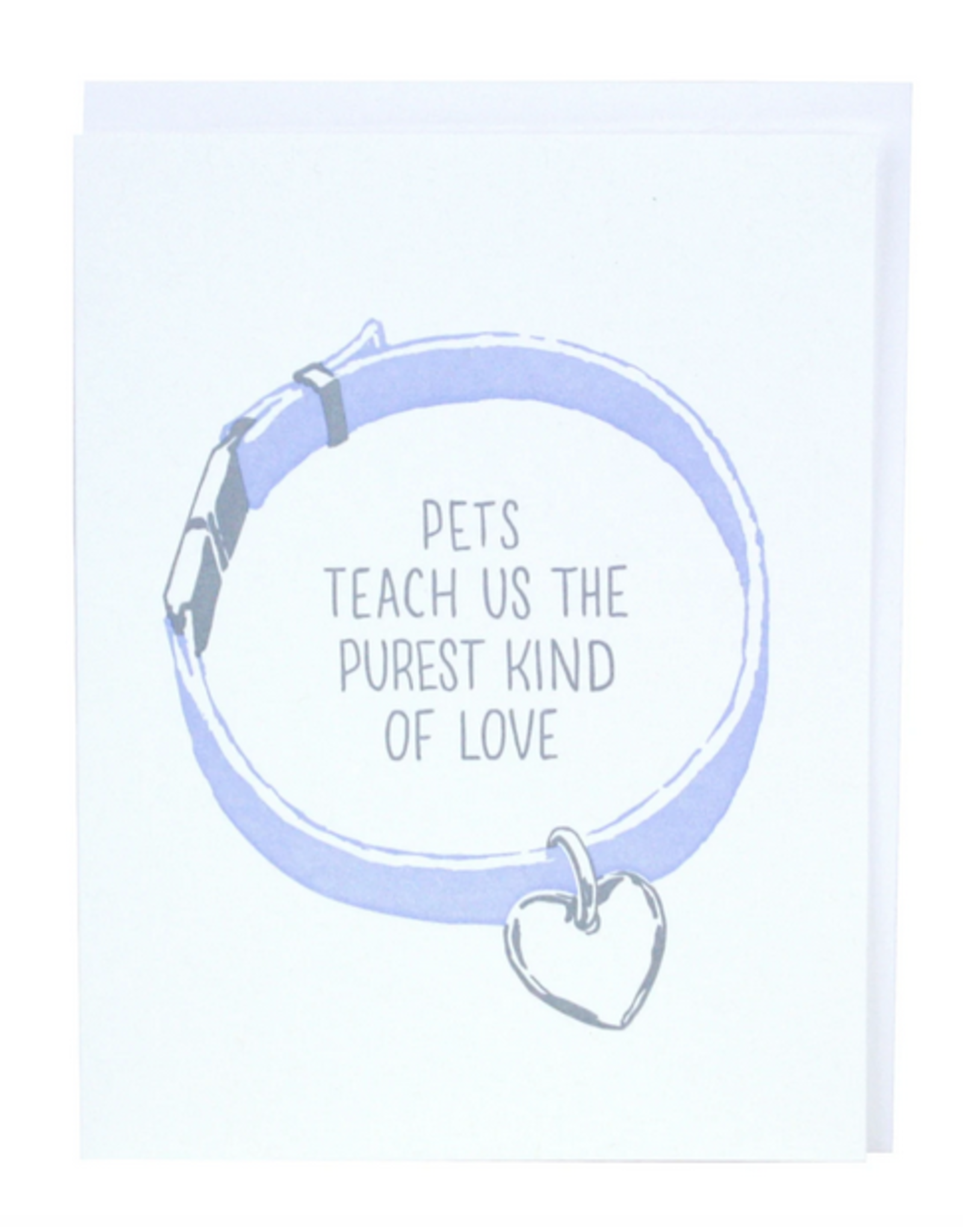 Smudge Ink Pet Collar Sympathy Card