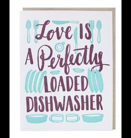 Smudge Ink Dishwasher Love Card