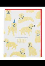 Smudge Ink Golden Retriever Birthday Card