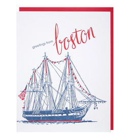 Smudge Ink Boston Greetings Card