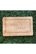 Maple Leaf at Home Mr. and Mrs. Script 13x8 Maple Cutting Board