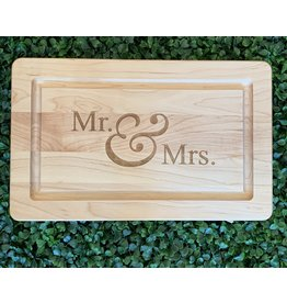 Maple Leaf at Home Mr. and Mrs. Block 13x8 Maple Cutting Board