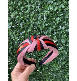 Pink Bee Striped Headband