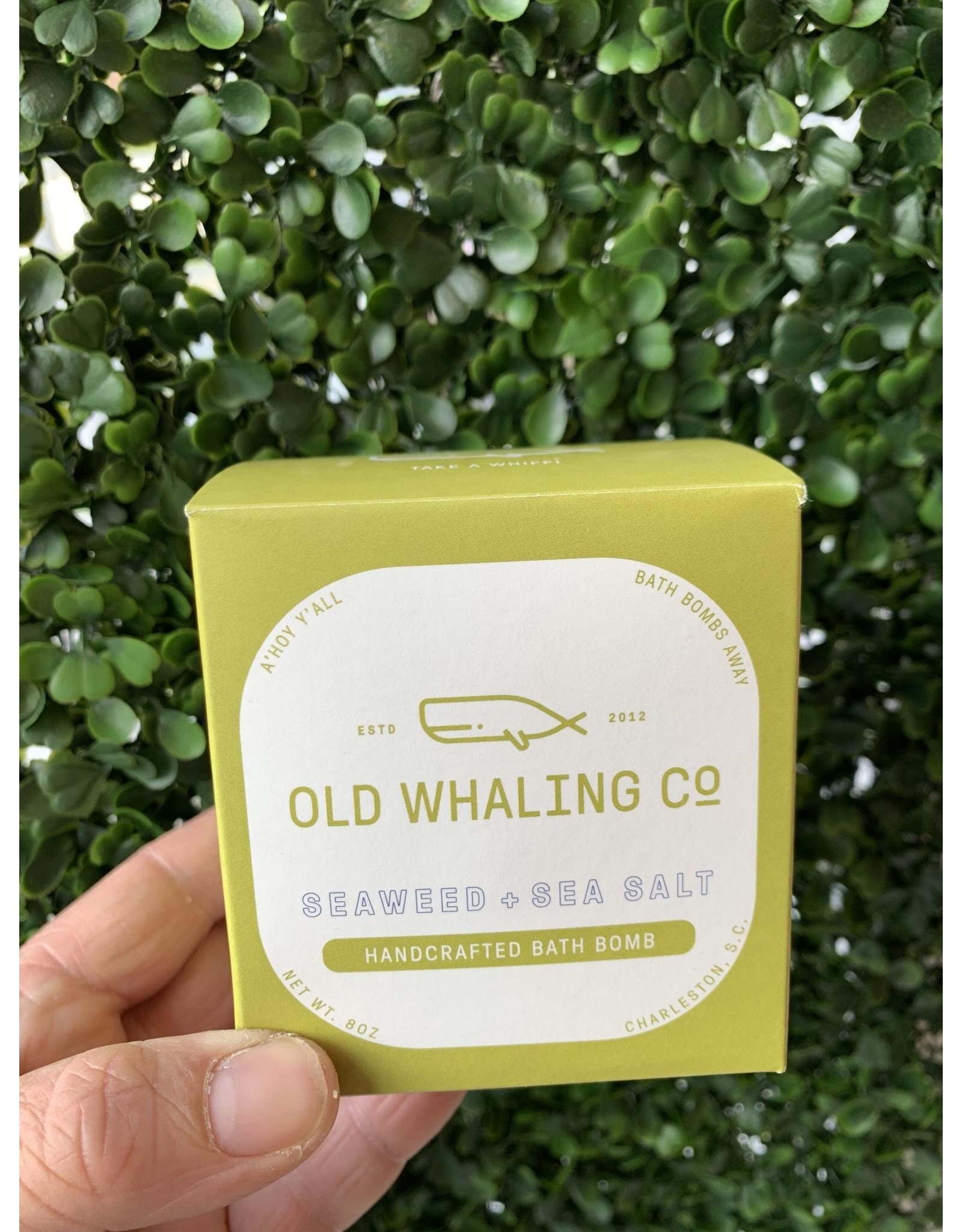 Old Whaling Co. Seaweed & Sea Salt 8oz Bath Bomb