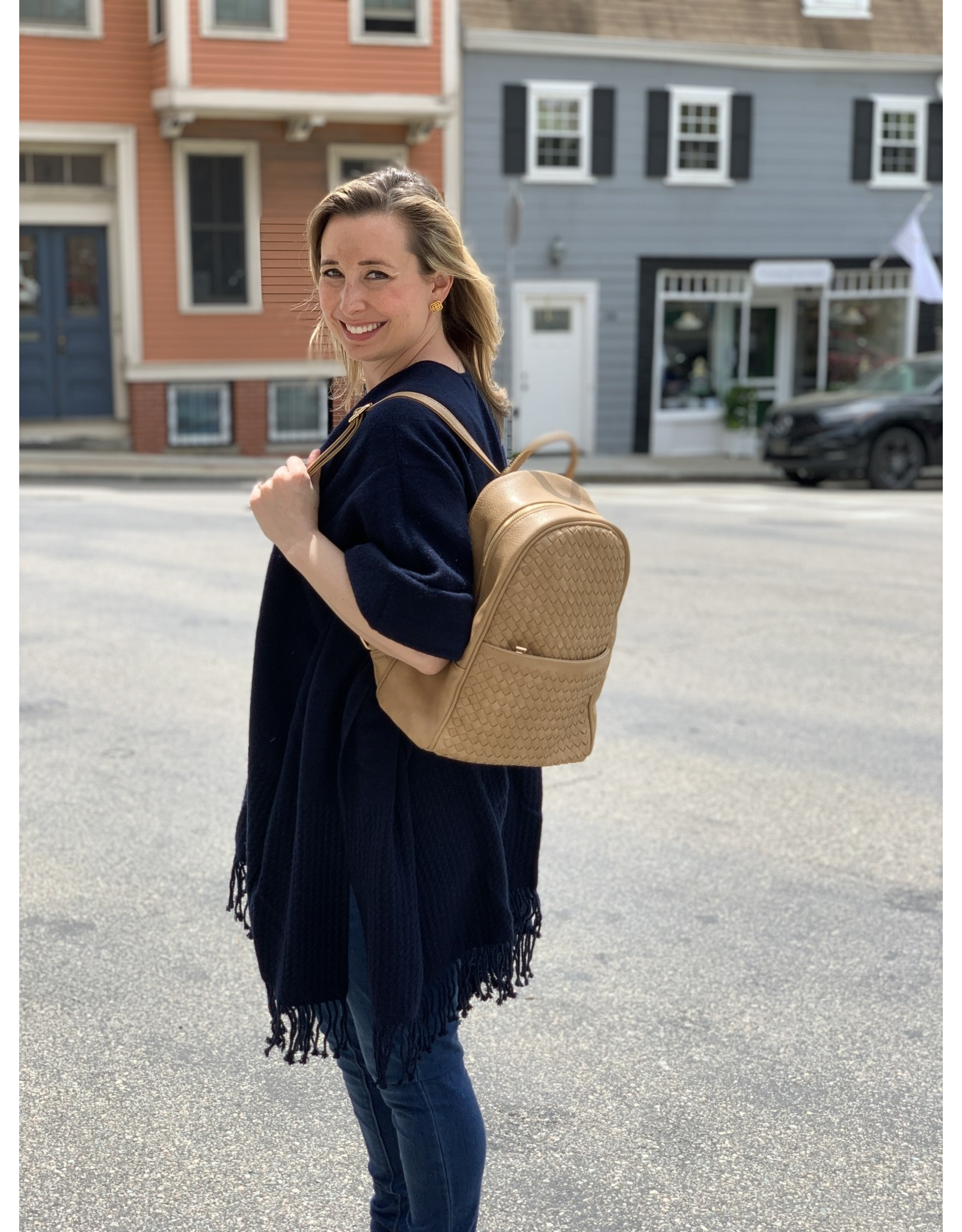 Accessories Shop by Place & Gather Taupe Quilted Backpack