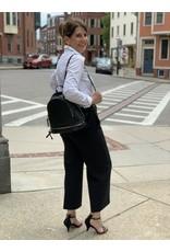 Black Zipper Detail Backpack