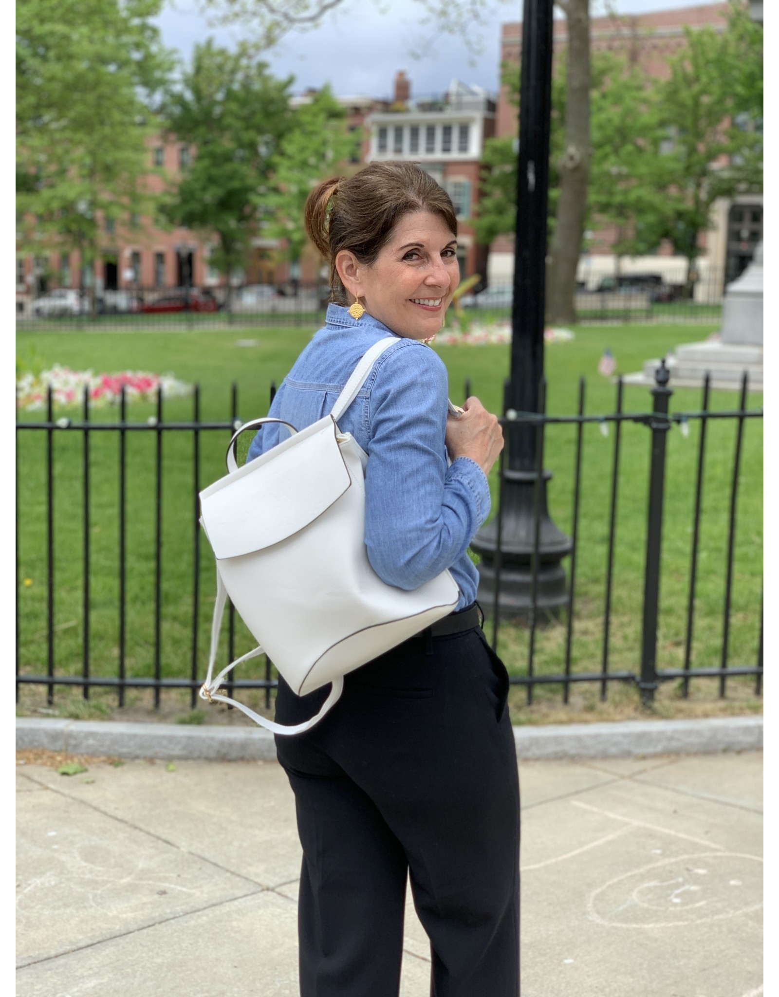 Accessories Shop by Place & Gather White Flap Backpack