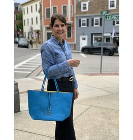 Reversible City Tote in Bluebird and Canary