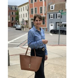 Accessories Shop by Place & Gather Reversible City Tote in Chocolate and Tan
