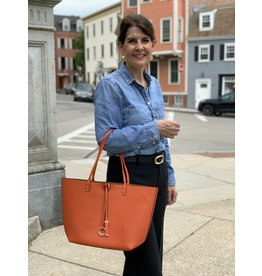 Accessories Shop by Place & Gather Reversible City Tote in Burnt Orange and Chestnut