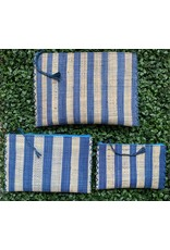 Party Pouch in Blue Stripe