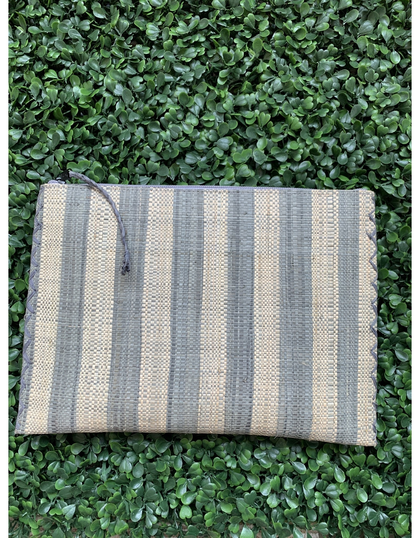 Party Pouch in Grey Stripe