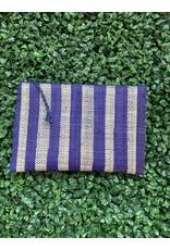 Party Pouch in Purple Stripe