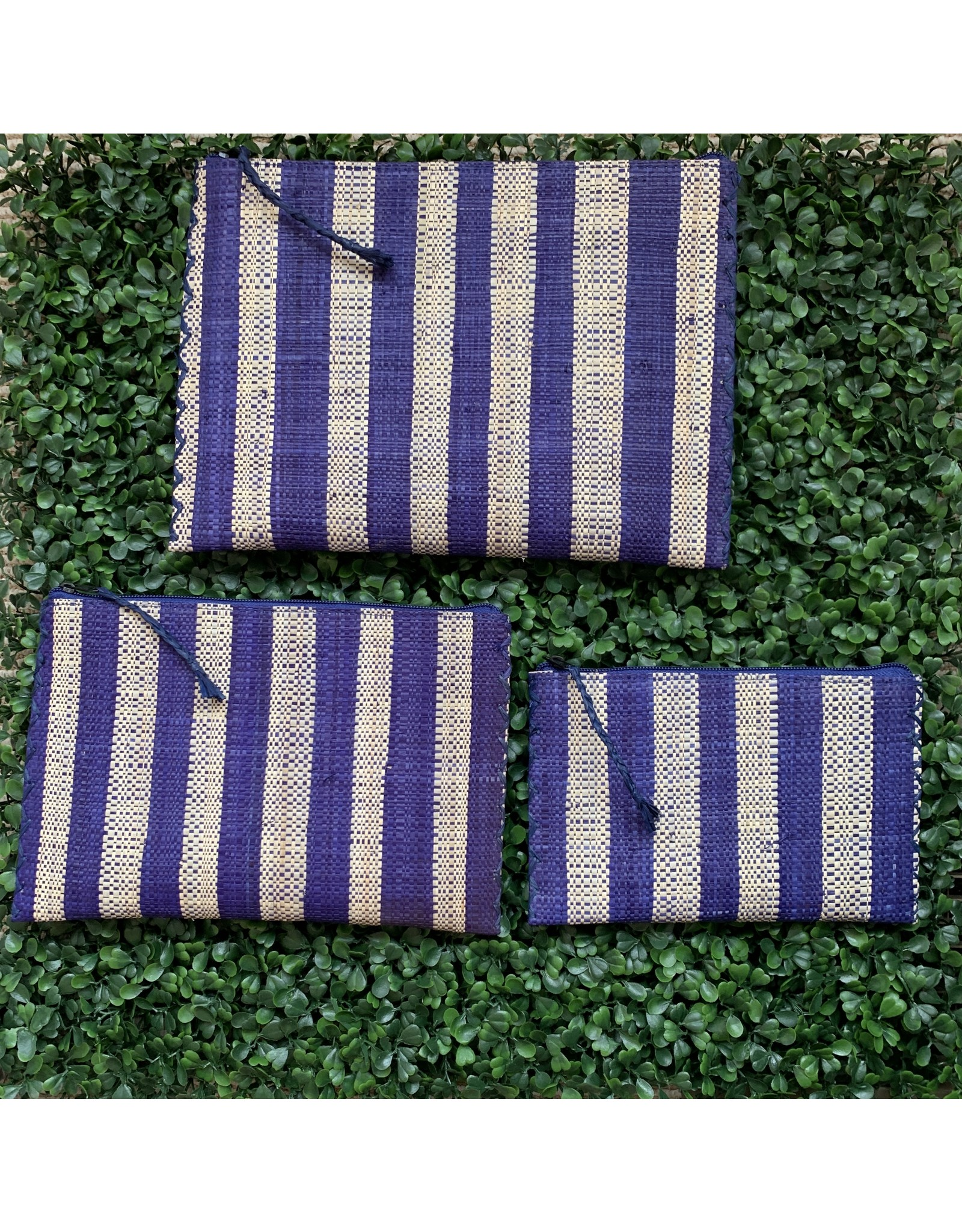 Party Pouch in Purple Stripe