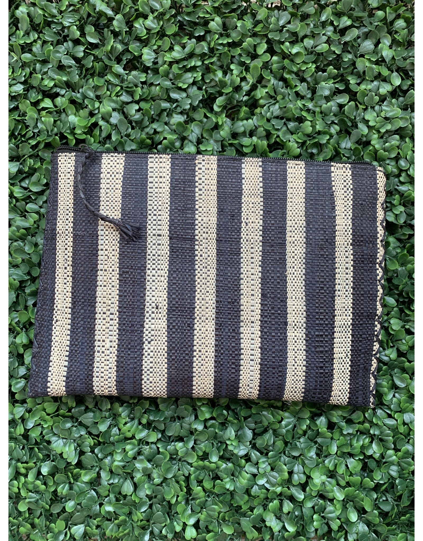 Party Pouch in Black Stripe