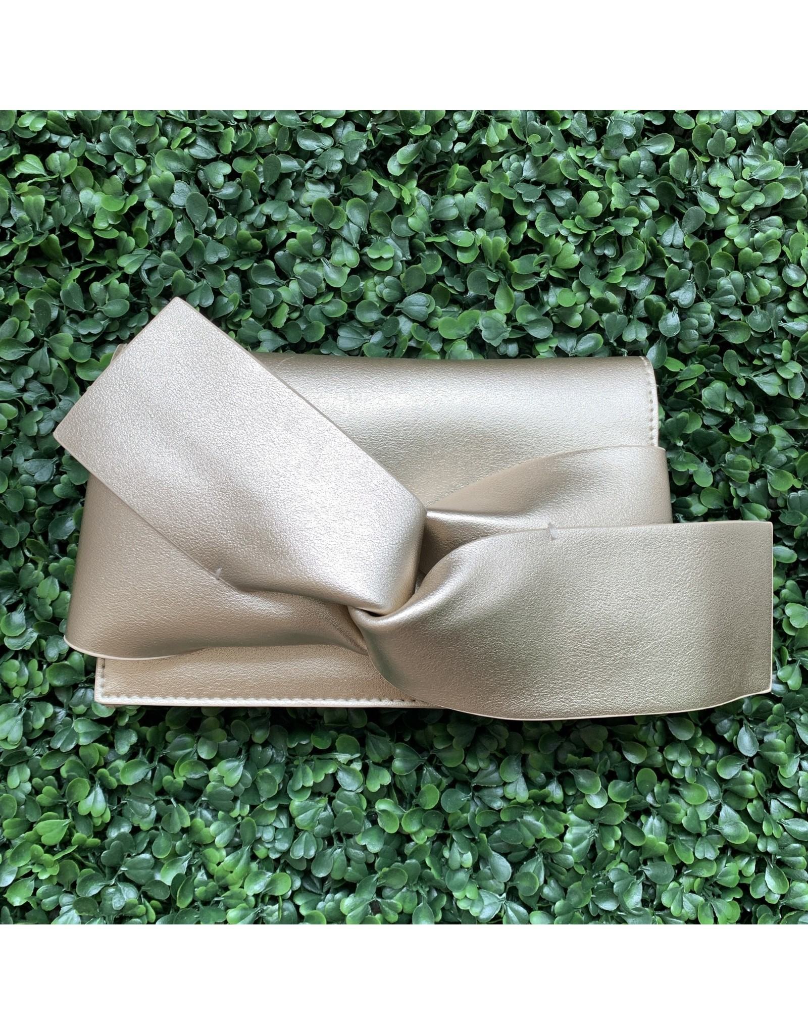Champagne Bow Clutch