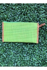 Zip Clutch Braided Handle in Lime