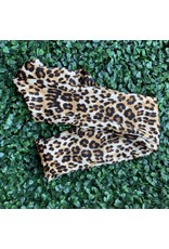 Silk Wired Head Scarf in Leopard Print