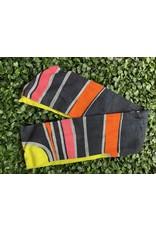 Cotton Wired Head Scarf in Black, Orange, Pink Mod Print