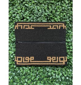 Black and Gold Greek Key Beaded Clutch