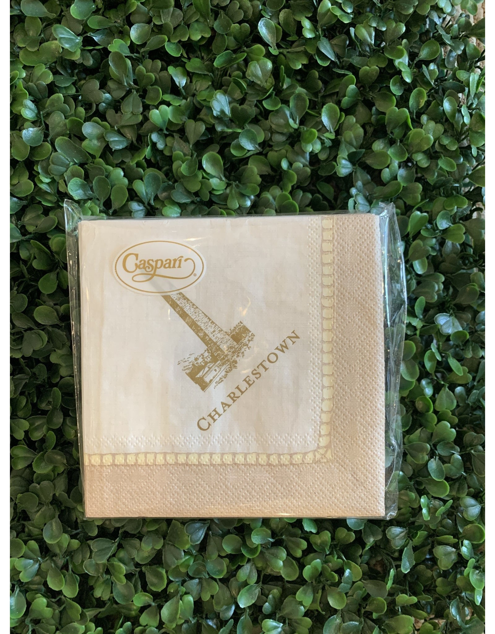 Caspari Linen and Gold Monument Napkin