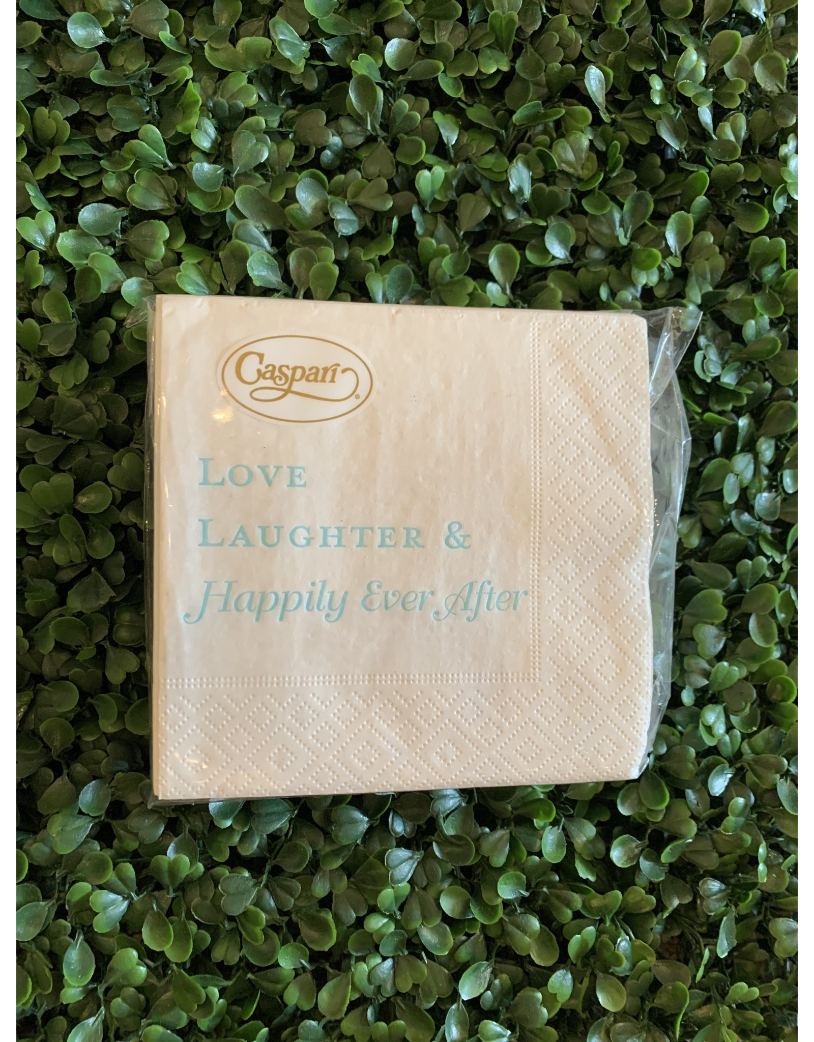 Caspari Love Laughter and Happily Ever After Napkin