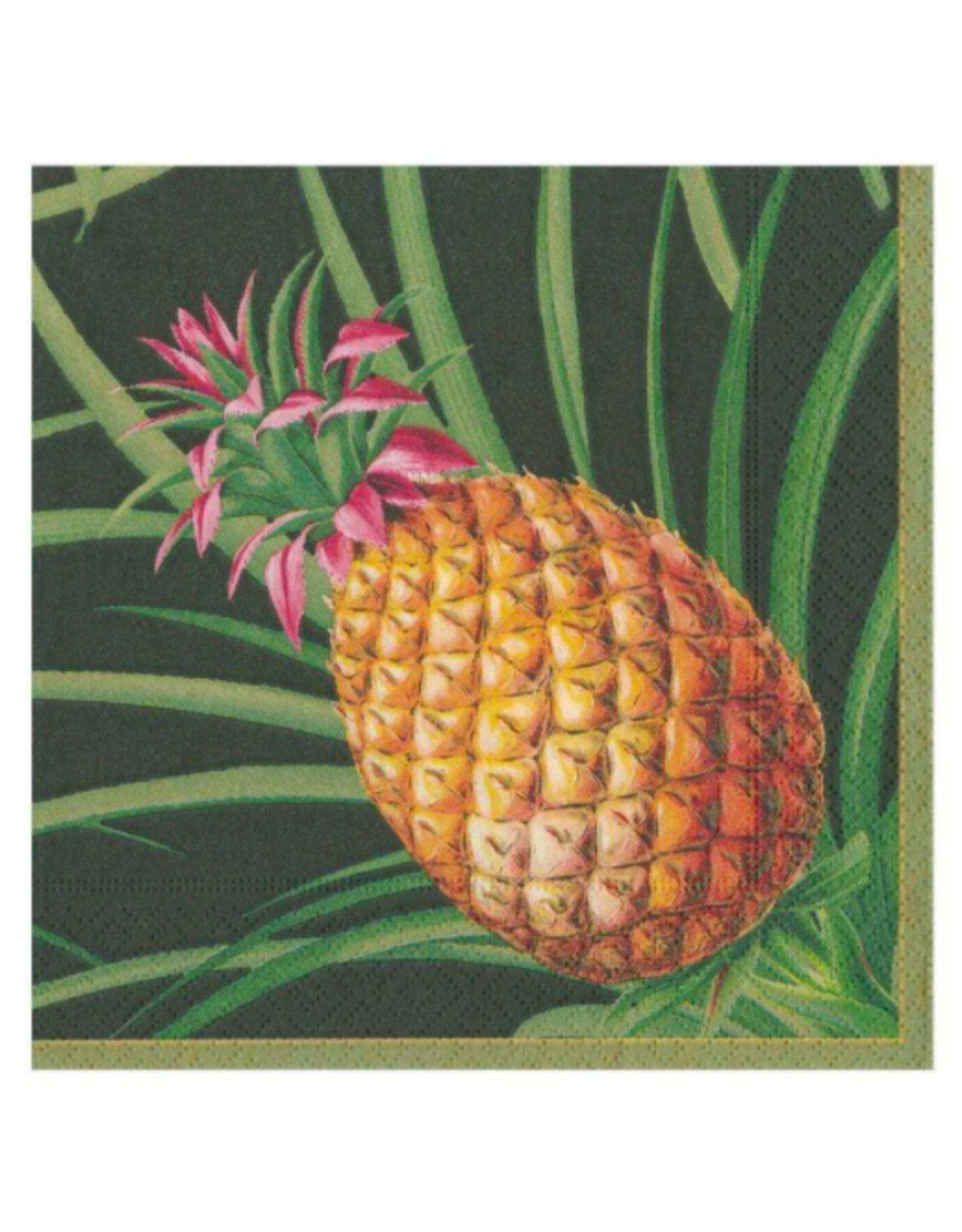 Caspari Tropical Fruit Cocktail Napkin