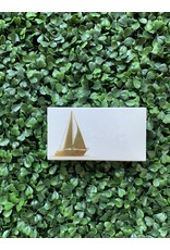 The Joy of Light Gold Sailboat Matches
