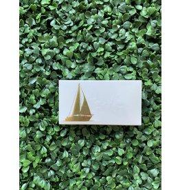 The Joy of Light Gold Sailboat Matches