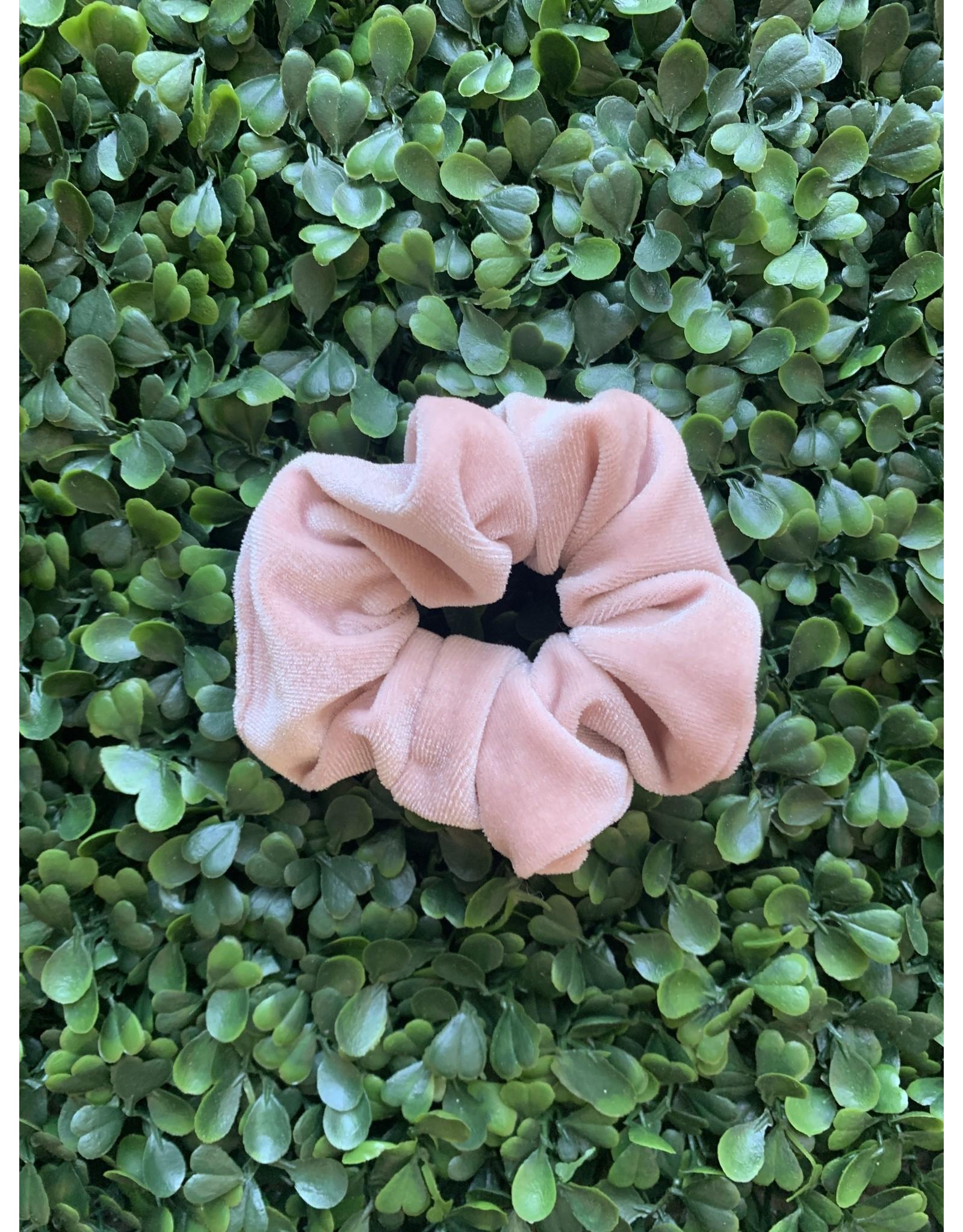 Blush Petite Velvet Scrunchie