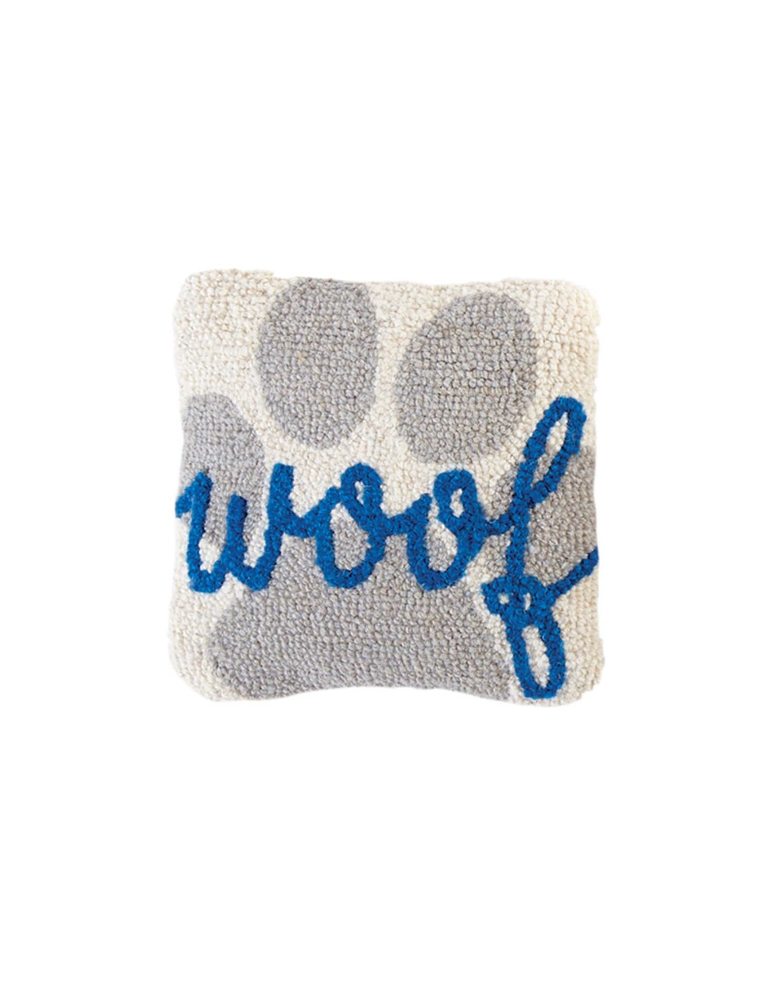 Mini Hooked Dog Woof Pillow