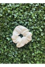 White Petite Velvet Scrunchie