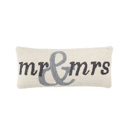 Mr. and Mrs. Hooked Pillow