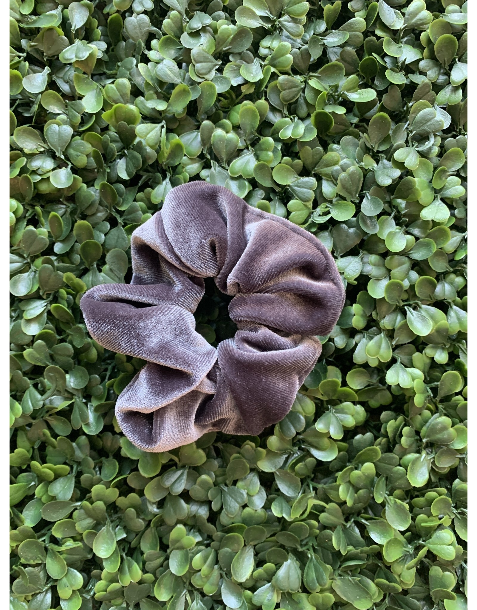 Slate Petite Velvet Scrunchie